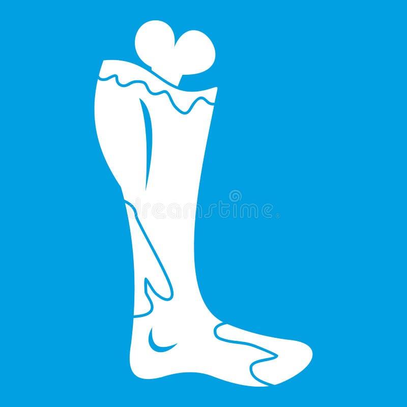 Белизна значка ноги зомби бесплатная иллюстрация