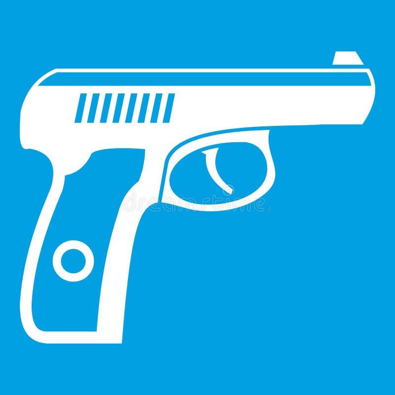 Белизна значка оружия иллюстрация вектора