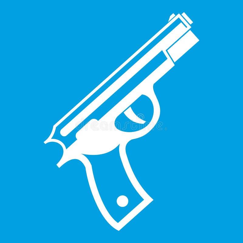 Белизна значка оружия иллюстрация штока