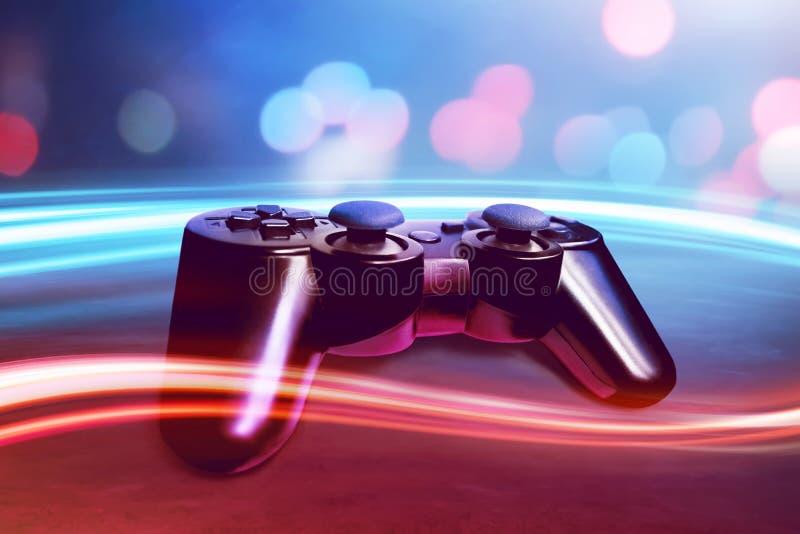 белизна игровой модели регулятора 3d видео- стоковые изображения