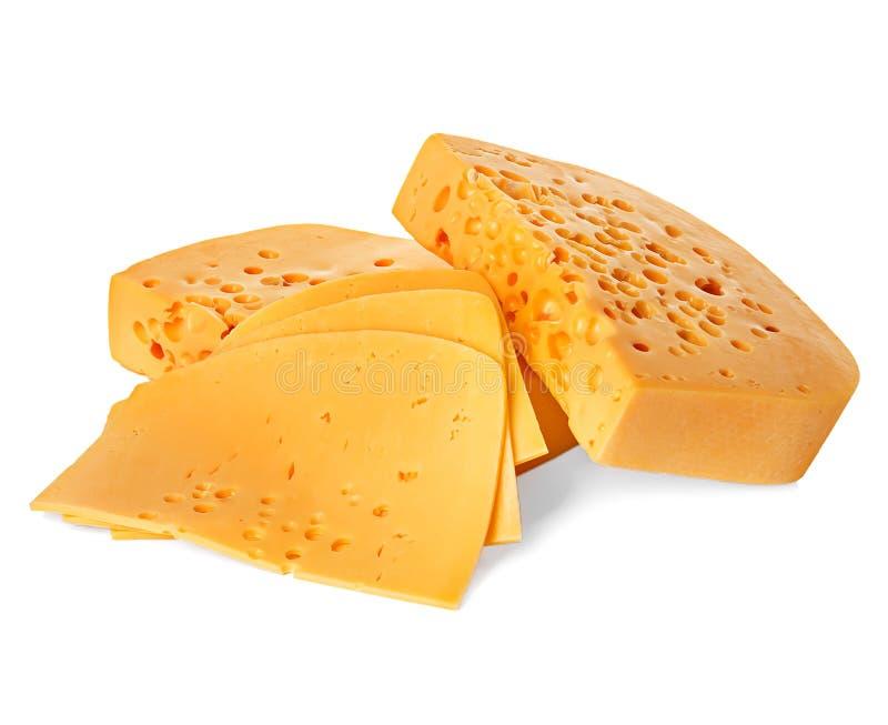 белизна изолированная сыром стоковые фотографии rf