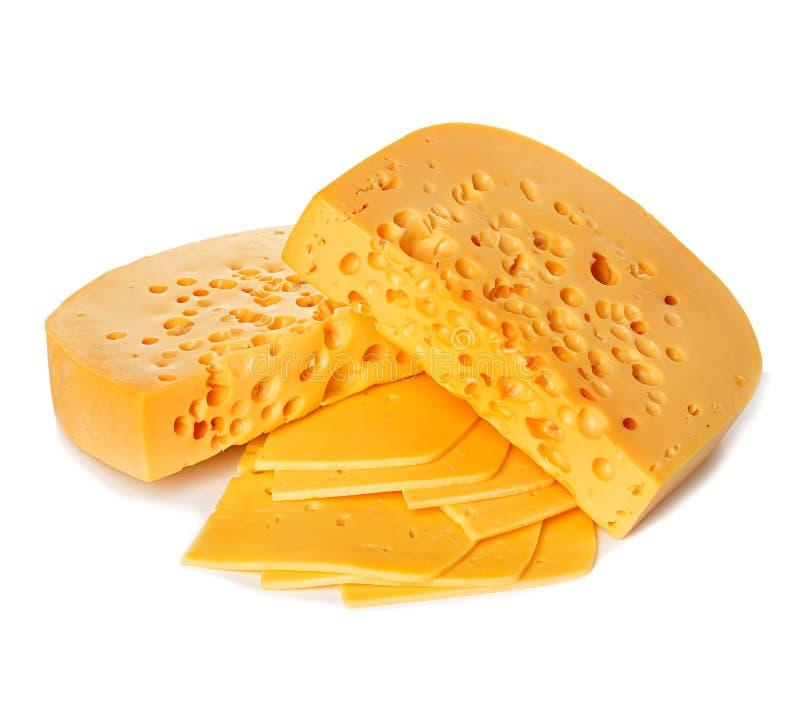белизна изолированная сыром стоковые изображения