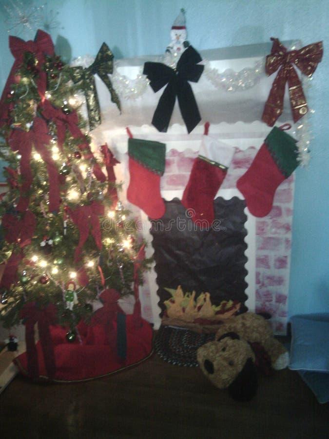 белизна изоляции декора рождества стоковая фотография rf