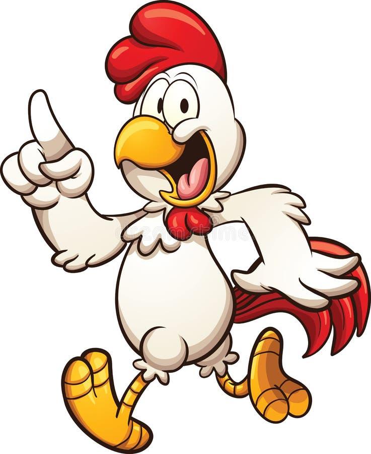 белизна иллюстрации цыпленка шаржа предпосылки иллюстрация вектора