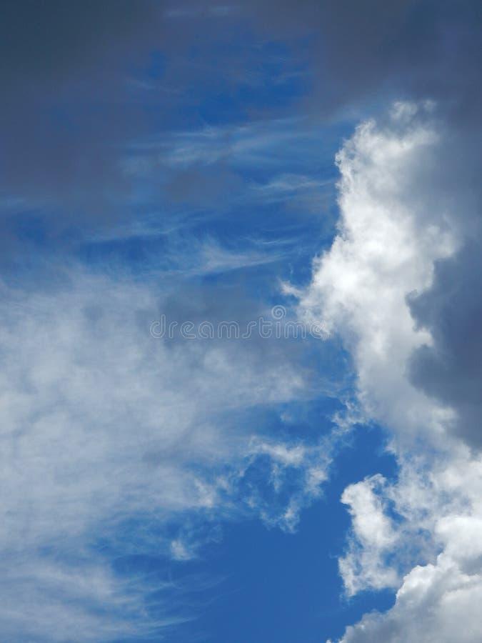 белизна космоса неба голубого экземпляра облаков пушистая стоковые изображения rf