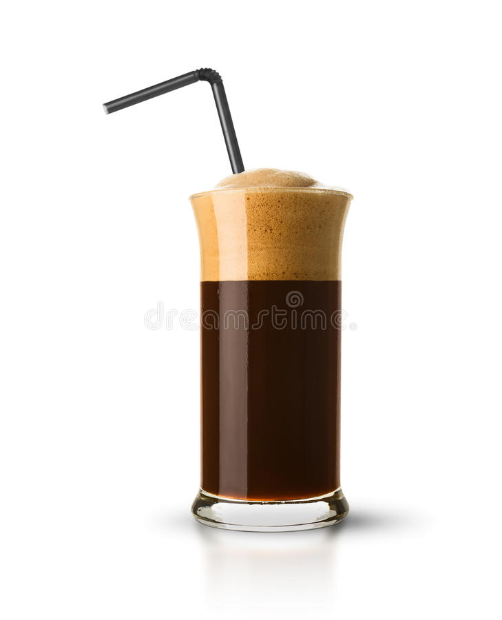 белизна кофе предпосылки изолированная frappe стоковые фото