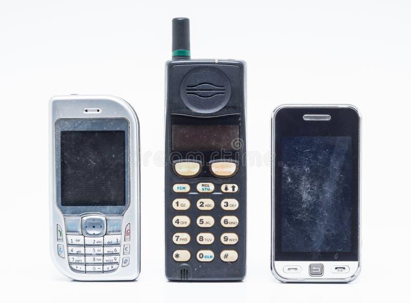 белизна мобильного телефона стоковые изображения
