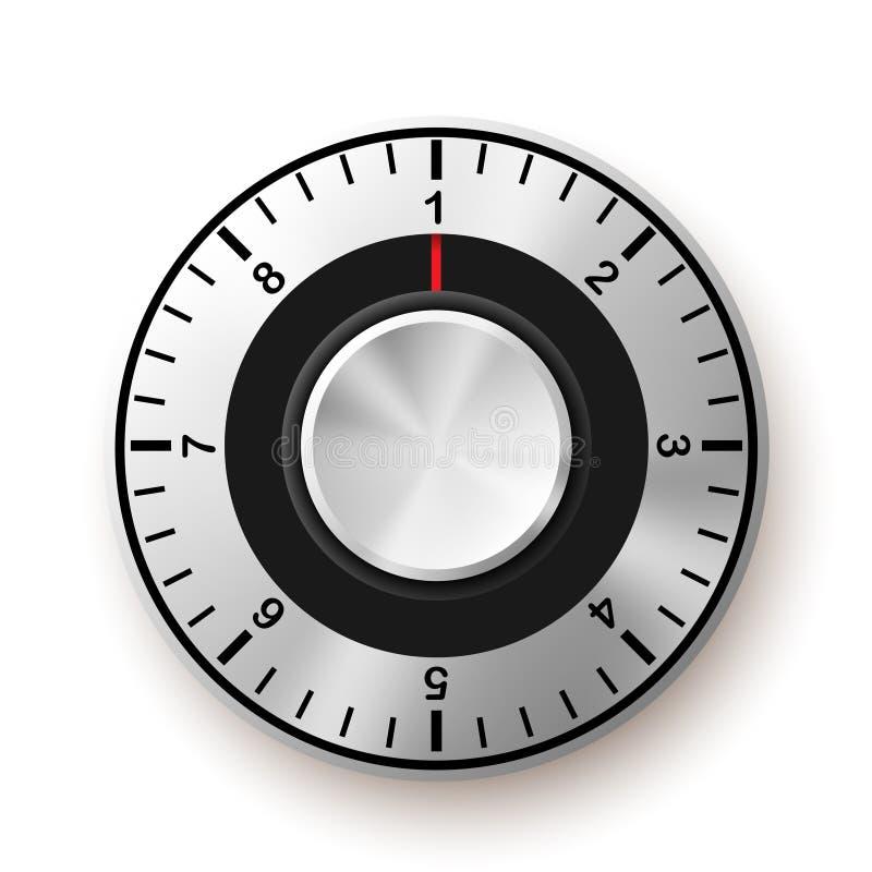 белизна обеспеченностью предпосылки изолированная принципиальной схемой Безопасный значок шкалы иллюстрация штока
