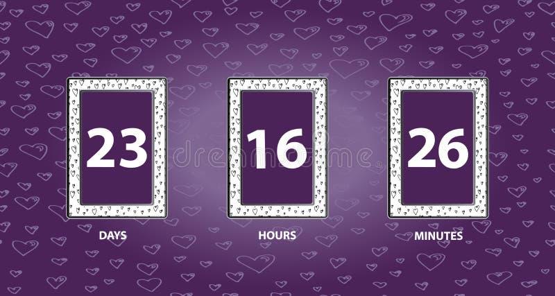 белизна отметчика времени иллюстрации конструкции комплекса предпусковых операций предпосылки счетчик часов вектора удерживание р стоковые фотографии rf