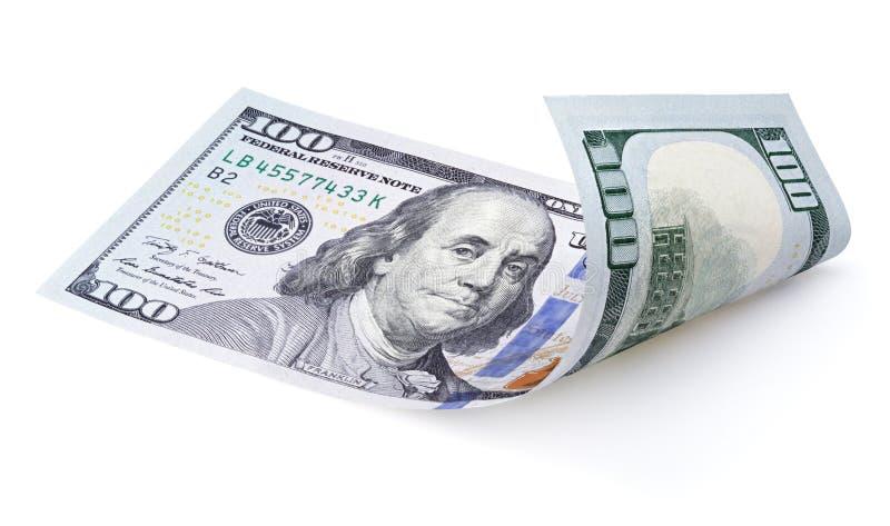 белизна доллара 100 счета стоковое изображение rf