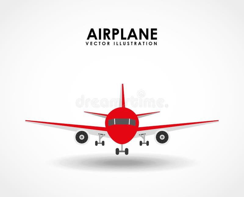 белизна перемещения иллюстрации предпосылки самолета 3d иллюстрация вектора