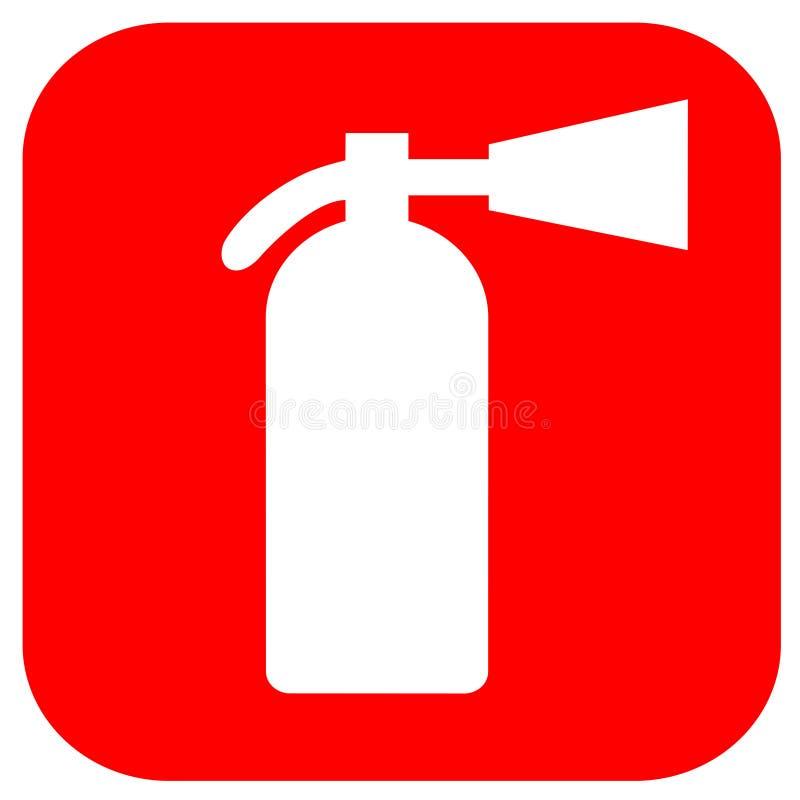 белизна пожара гасителя предпосылки 3d изолированная изображением бесплатная иллюстрация