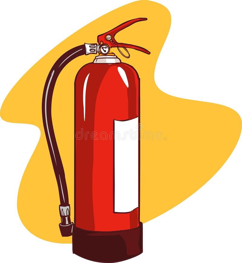 белизна пожара гасителя предпосылки 3d изолированная изображением иллюстрация штока
