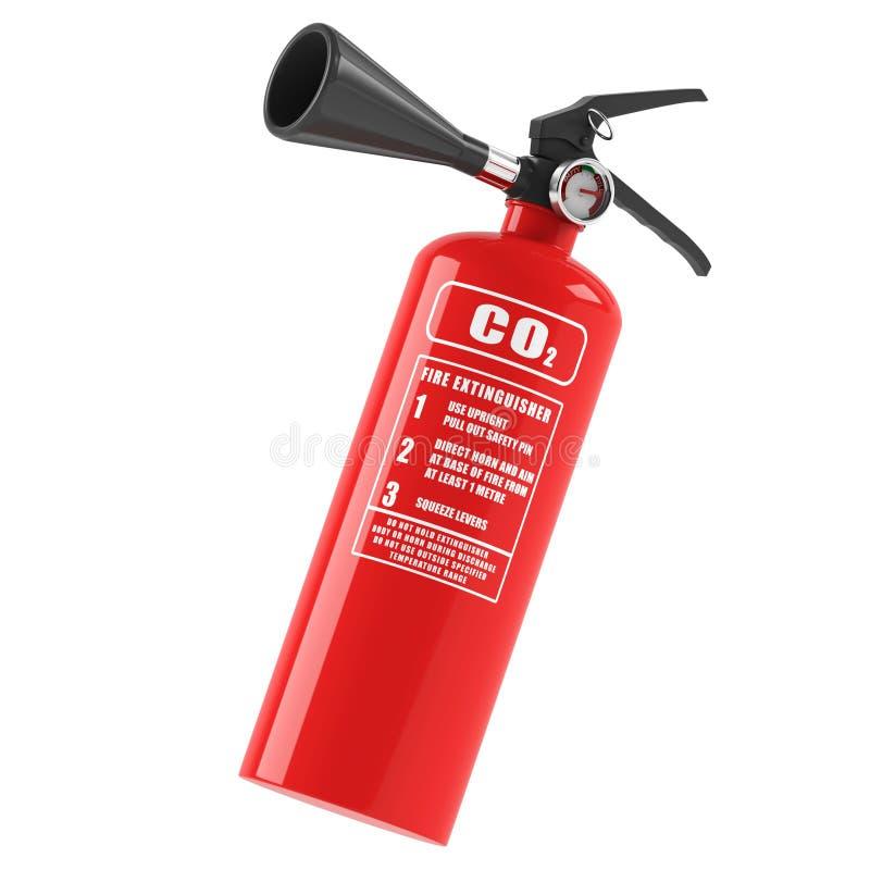 белизна пожара гасителя предпосылки 3d изолированная изображением стоковое фото rf