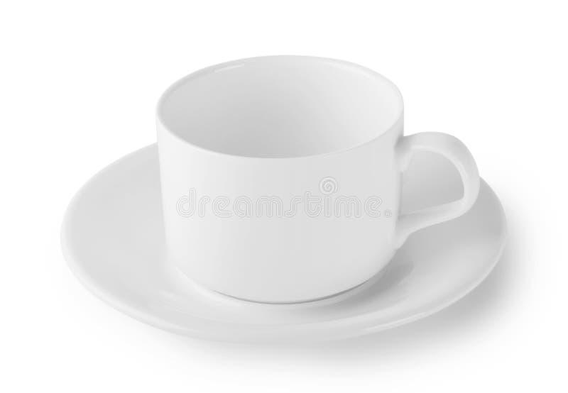 Download белизна поддонника кофейной чашки Стоковое Изображение - изображение насчитывающей тарелки, оборудование: 40583731