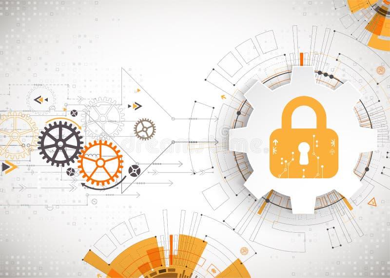 белизна предохранения от принципиальной схемы 3d изолированная изображением Механизм обеспечения безопасности, уединение системы иллюстрация штока