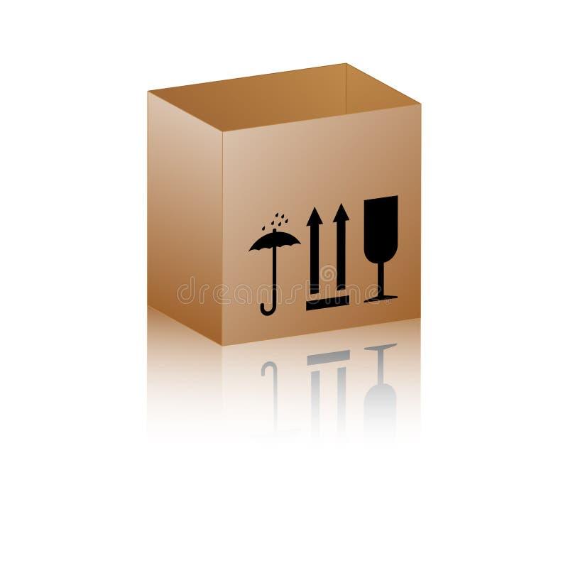 белизна пустого изображения картона коробки предпосылки открытая стоковые фото
