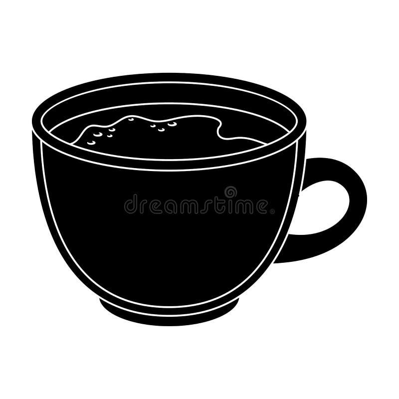 белизна путя кофейной чашки предпосылки изолированная espresso Разные виды кофе определяют значок в черной сети иллюстрации запас иллюстрация вектора