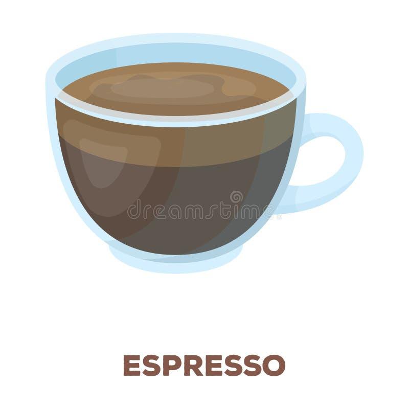 белизна путя кофейной чашки предпосылки изолированная espresso Разные виды кофе определяют значок в сети иллюстрации запаса симво бесплатная иллюстрация
