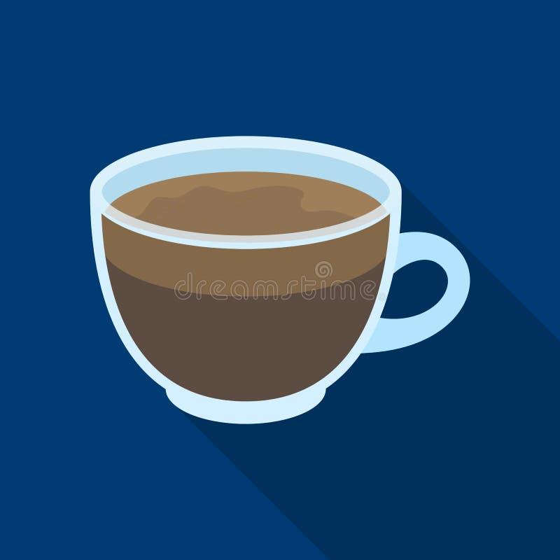 белизна путя кофейной чашки предпосылки изолированная espresso Разные виды кофе определяют значок в плоской сети иллюстрации запа иллюстрация штока