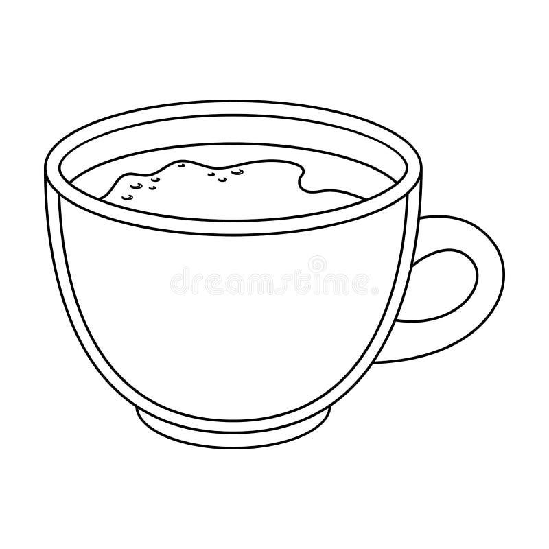 белизна путя кофейной чашки предпосылки изолированная espresso Разные виды кофе определяют значок в сети иллюстрации запаса симво иллюстрация вектора