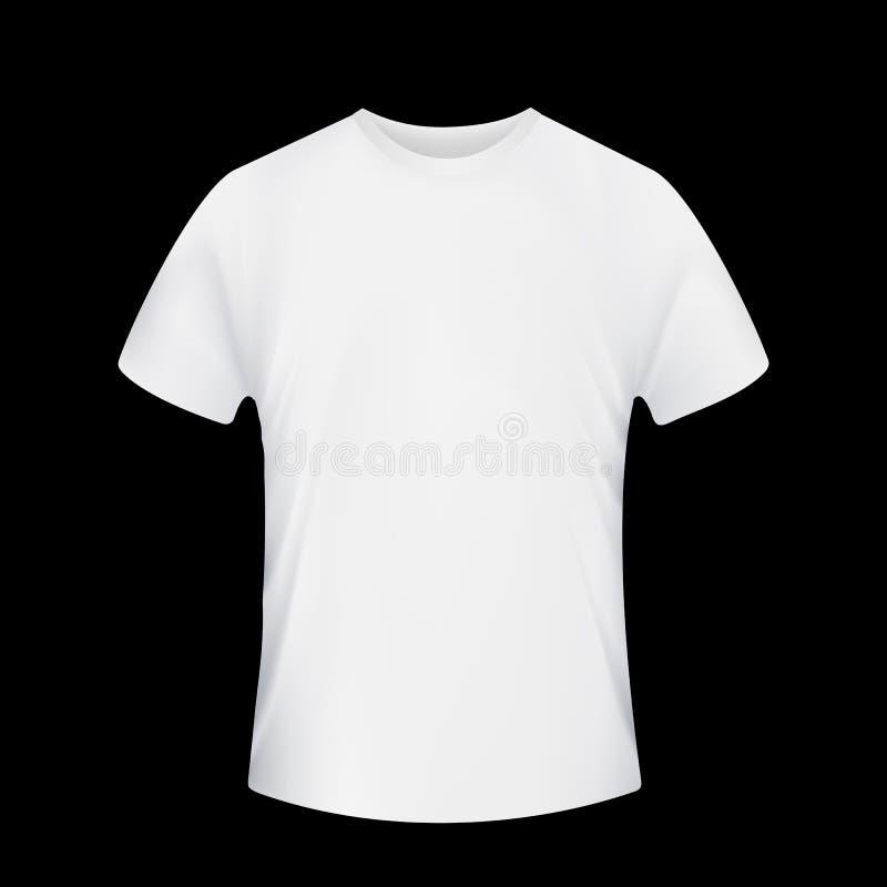 белизна рубашки t шток померанца иллюстрации предпосылки яркий иллюстрация вектора