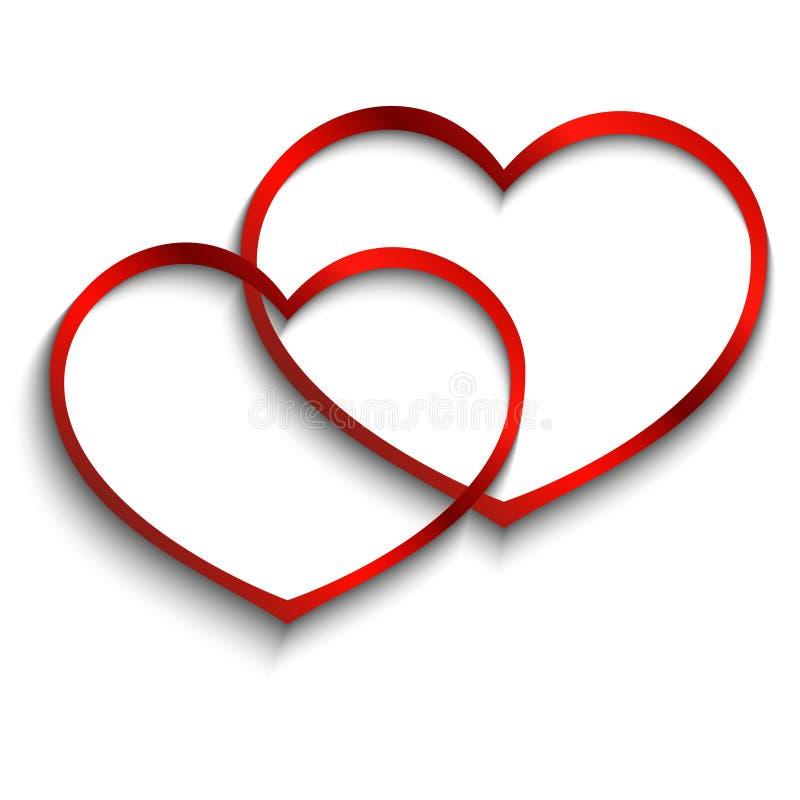 белизна сердец 2 предпосылки стоковые фото