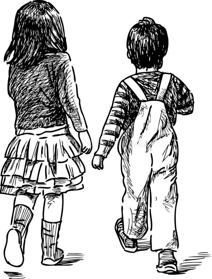 белизна сестры предпосылки изолированная братом бесплатная иллюстрация