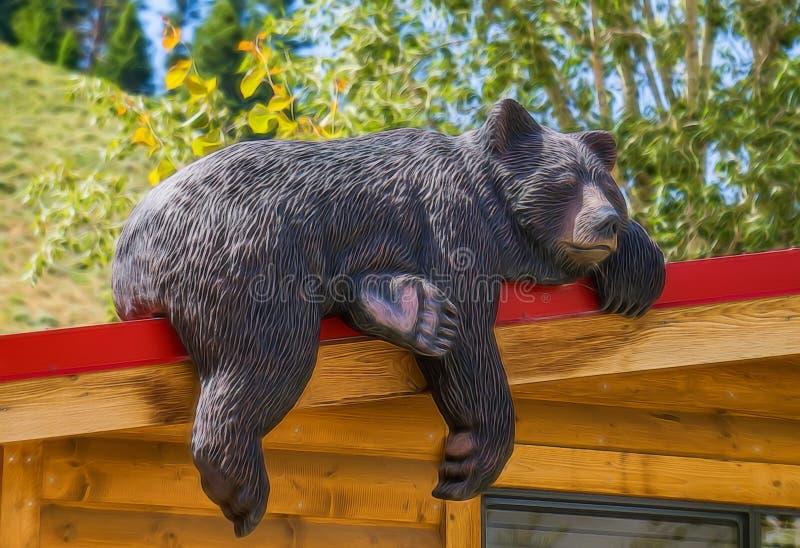 белизна спать медведя предпосылки стоковое фото