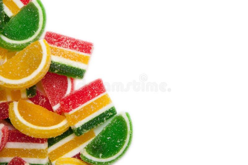 белизна студня конфет цветастая изолированная стоковое фото rf