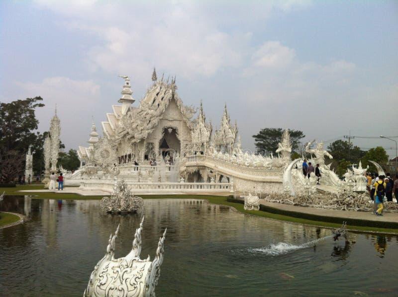 белизна Таиланда виска стоковое фото