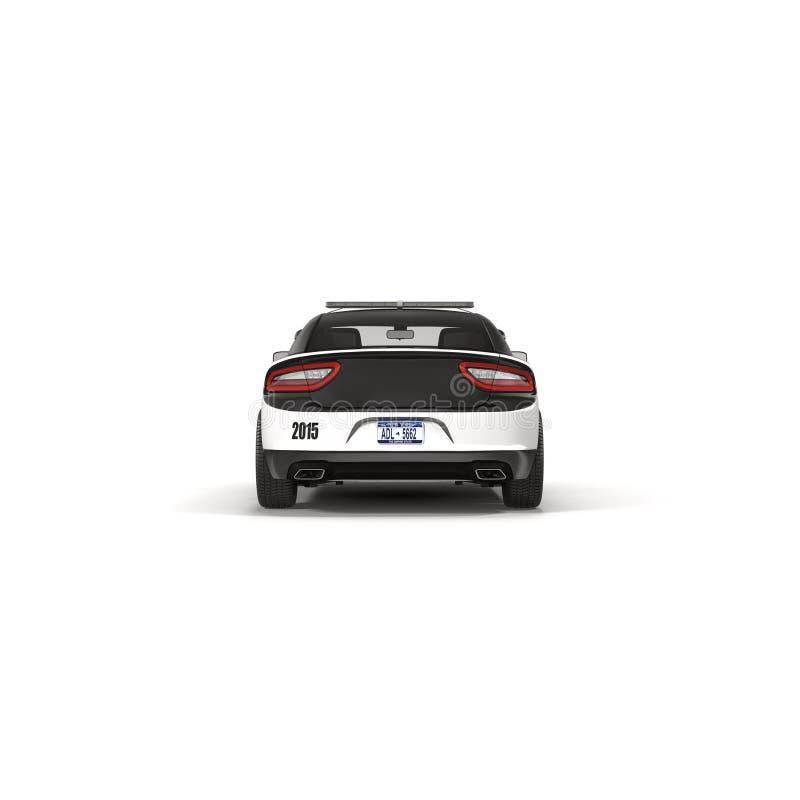 белизна типа полиций cartoonish автомобиля изолированная изображением Спорт и современный стиль на белой иллюстрации 3D иллюстрация штока