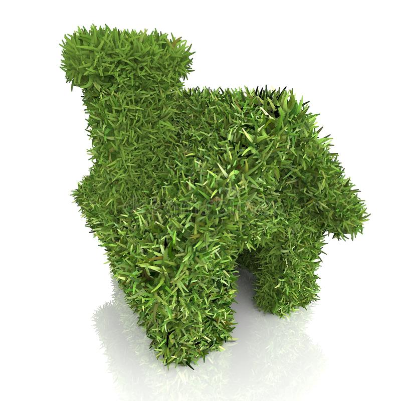 белизна травы изолированная домом На белизне бесплатная иллюстрация