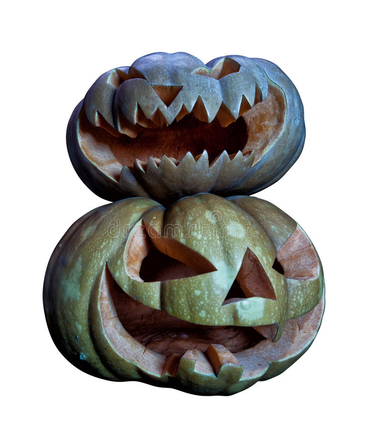 белизна тыквы halloween стоковые изображения rf