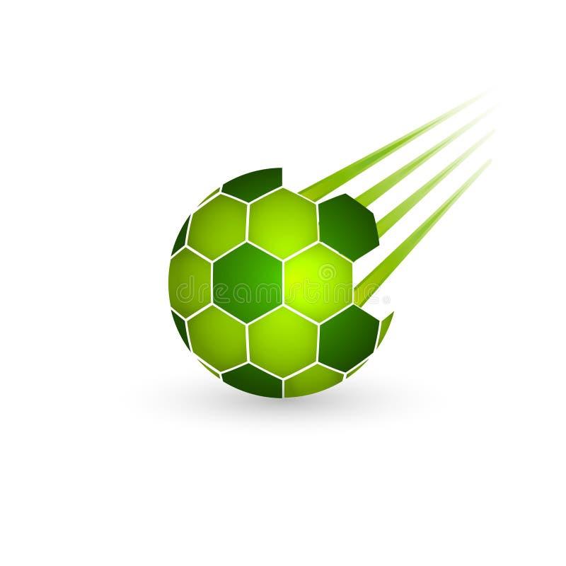 белизна футбола серии части предпосылки изолированная шариком Иллюстрация напольного значка дизайна спорт приключения иллюстрация вектора