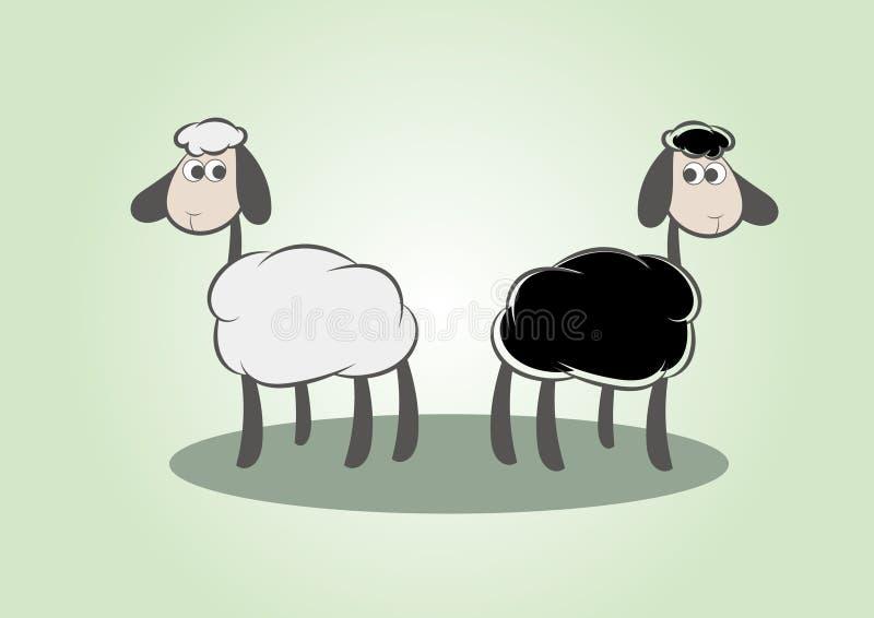 белизна черных овец иллюстрация штока