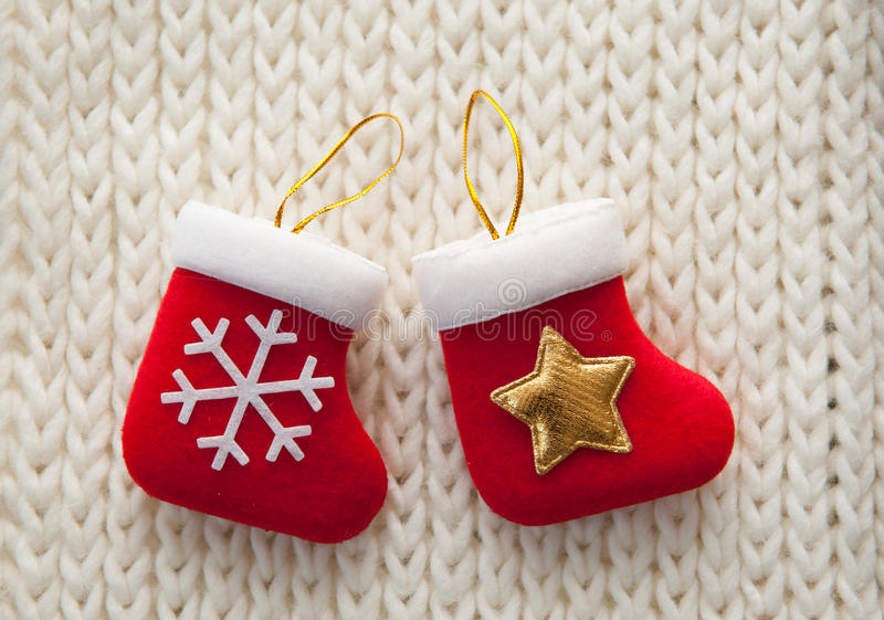 белизна чулка рождества предпосылки стоковое фото