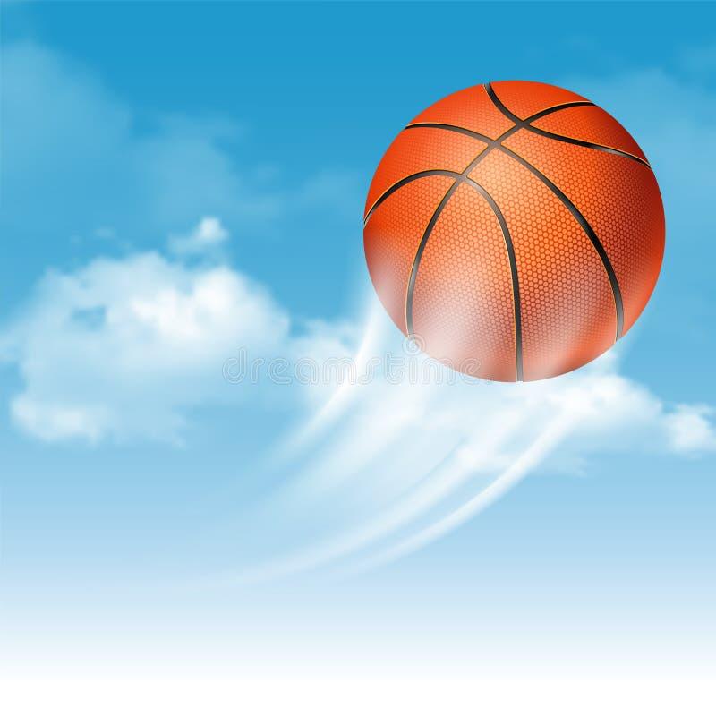 белизна шарика предпосылки изолированная баскетболом иллюстрация вектора