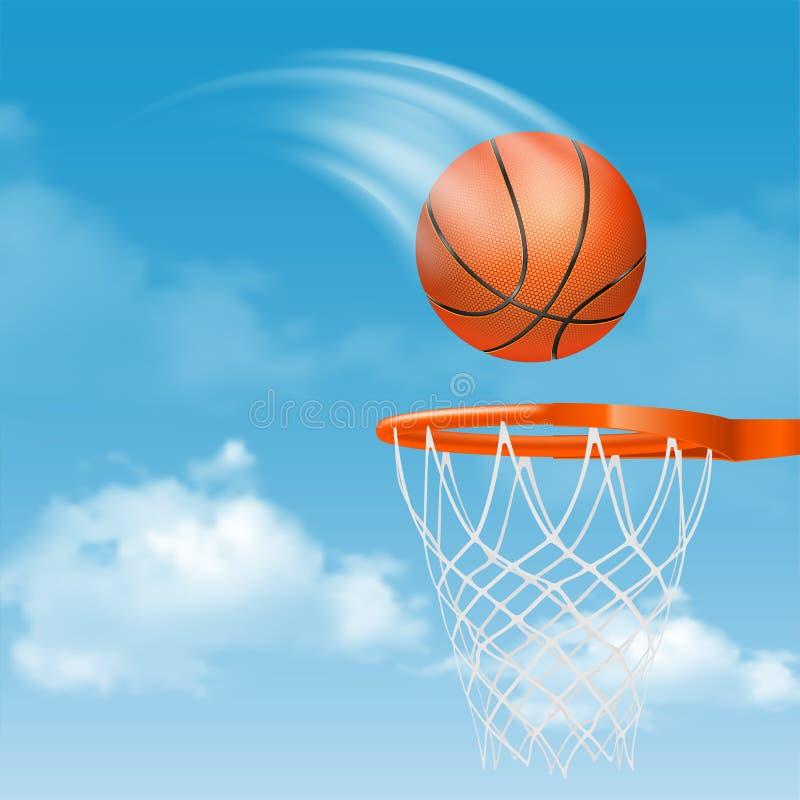 белизна шарика предпосылки изолированная баскетболом иллюстрация штока