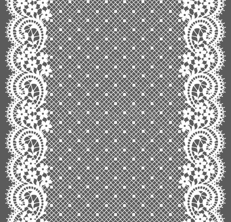 белизна шнурка Вертикальная безшовная картина иллюстрация штока