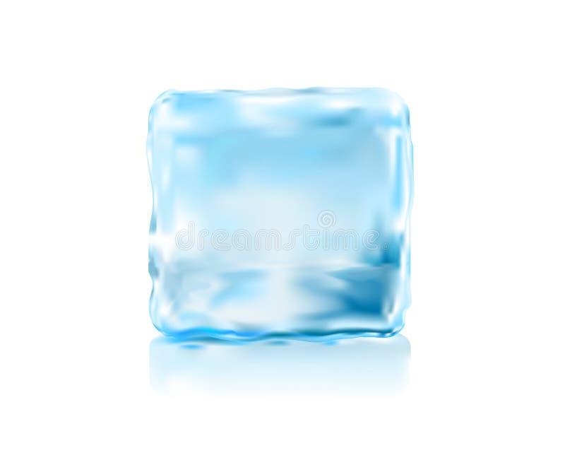 белизна льда кубика предпосылки иллюстрация штока