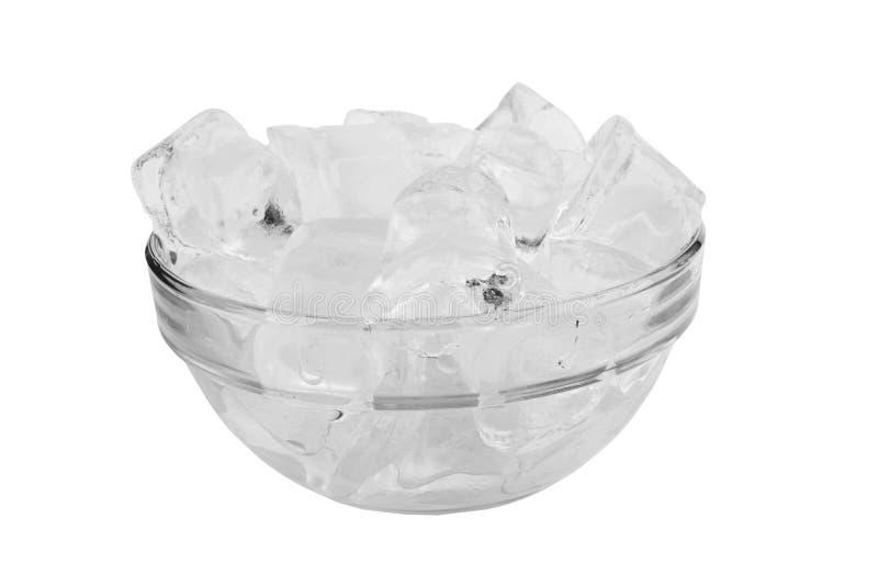 белизна льда кубика предпосылки стоковые изображения rf