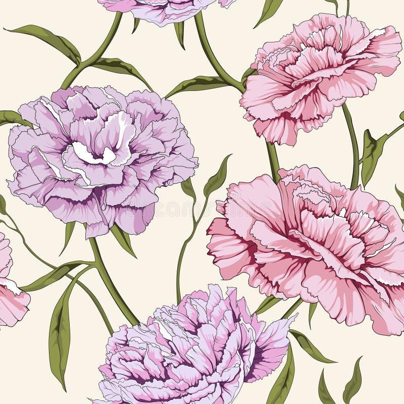 белизна peony цветка предпосылки иллюстрация вектора