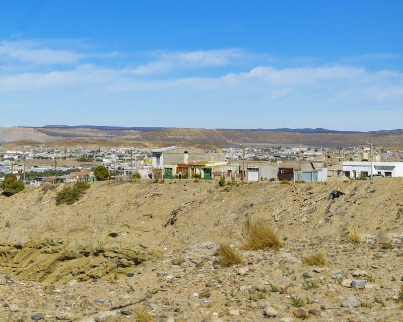 Бедный район Comodoro Rivadavia, Аргентина стоковые изображения rf