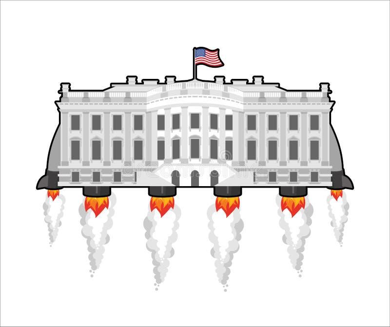 Белое будущееhouseс ракетой turbo Президент резиденция i США иллюстрация вектора
