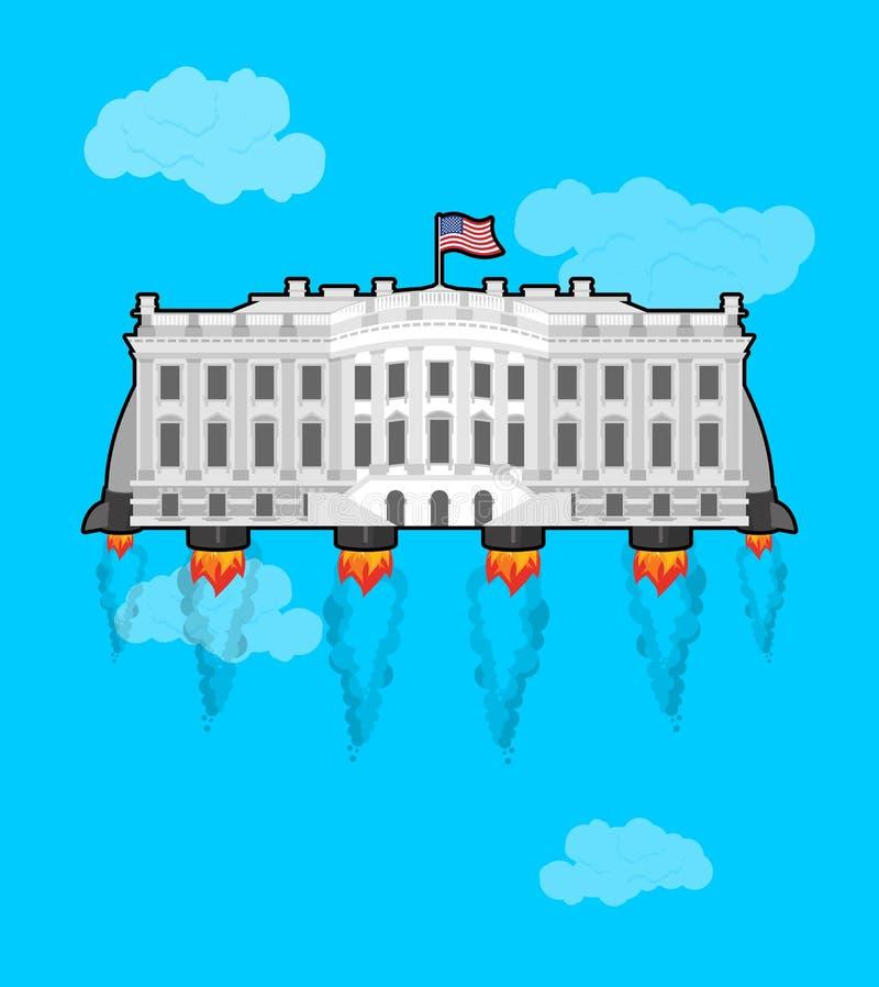 Белое летаниеhouseс ракетой turbo Президент резиденция i США бесплатная иллюстрация