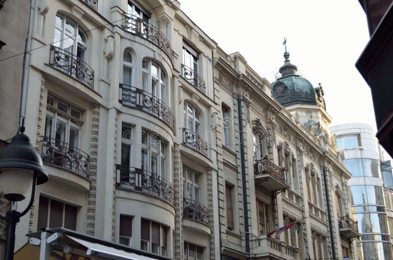 Белое здание в Белграде стоковые фотографии rf