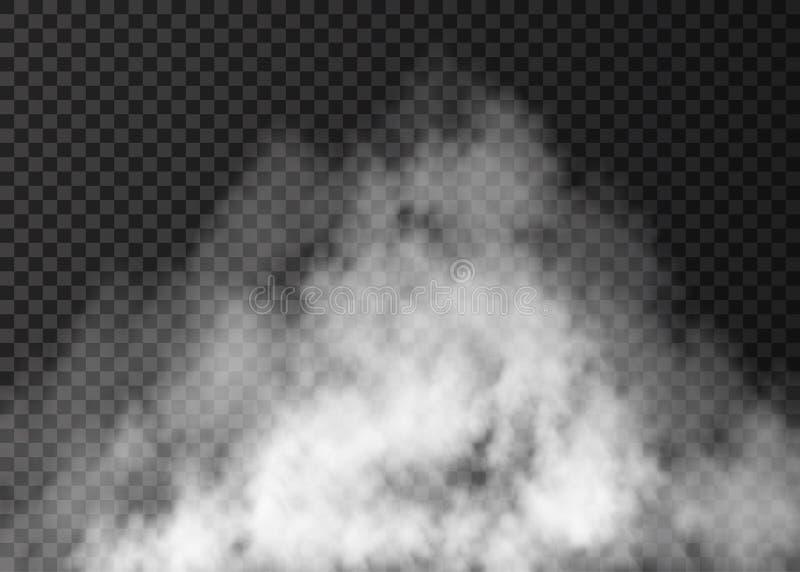 Белое изолированное влияние тумана на прозрачной предпосылке иллюстрация штока