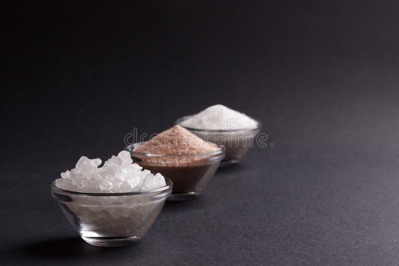 Белое и розовое соль стоковое фото rf