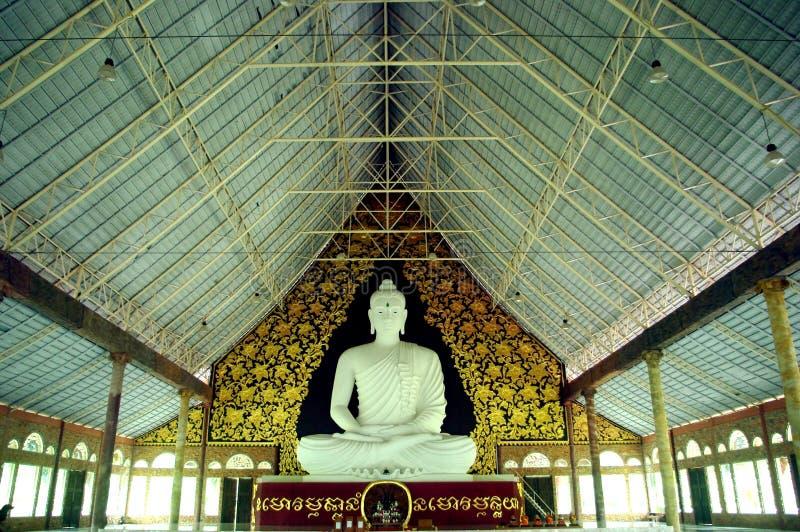 Белое budha стоковая фотография